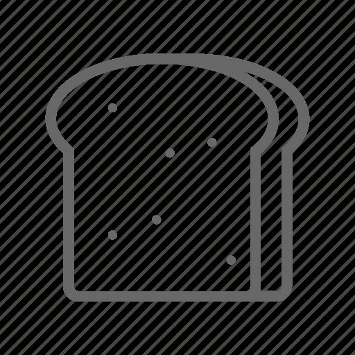 bakery, bread, breakfast, dessert, food, meal icon