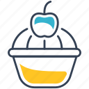 butterfly, cake, food icon