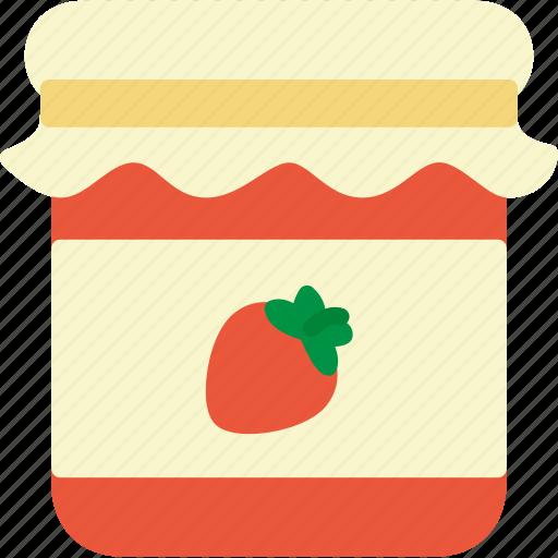 food, jam, jar, strawberry icon