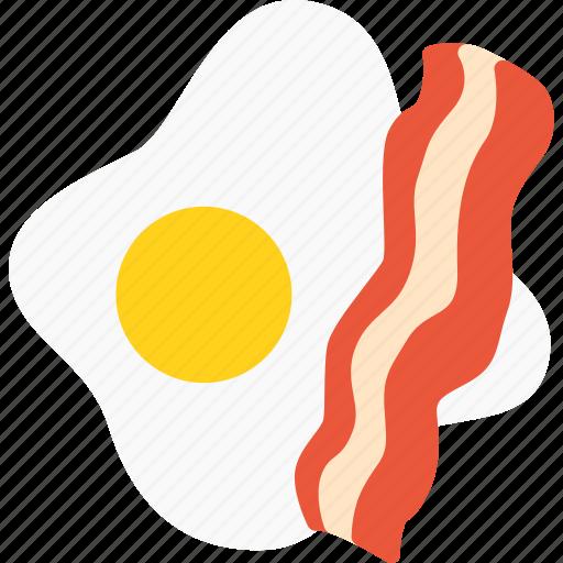 bacon, egg, food icon