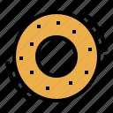 bagel, bakery, bread, breakfast, toast icon