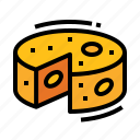 breakfast, cheese, food, ingredient icon