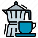 breakfast, coffee, italian, maker icon