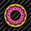 bagel, bakery, bread, breakfast, donut icon