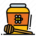 bee, breakfast, honey, jar, sweet