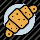 bakery, bread, breakfast, croissant, toast
