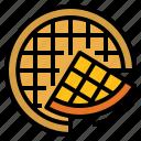 bakery, breakfast, dessert, wafer, waffle icon