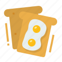 egg, toast, bakery, breakfast, bread