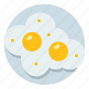 egg, fried, food, breakfast