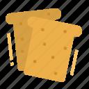 bakery, bread, breakfast, brioche, toast icon