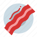 bacon, beef, breakfast, food, meat icon