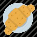 bakery, bread, breakfast, croissant, toast icon