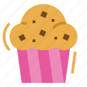 bakery, bread, breakfast, cupcake, muffin icon
