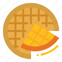 bakery, breakfast, dessert, wafer, waffle icon