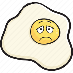 breakfast, cartoon, egg, eggs, emoji, face, smiley icon