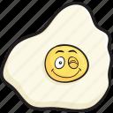 breakfast, cartoon, egg, eggs, emoji, face, smiley