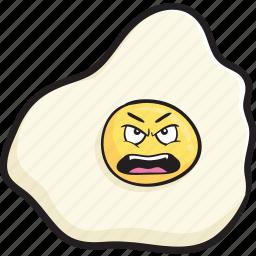 breakfast, cartoon, egg, eggs, emoji, face, smiley icon