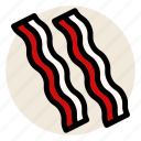 bacon, breakfast, butcher, deli, ham, pork icon