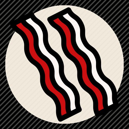 bacon, breakfast, butcher, deli, ham, pork icon