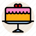 birthday, birthday cake, breakfast, cake, celebration icon