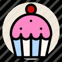 bakery, breakfast, cupcake, dessert, muffin, sweet icon