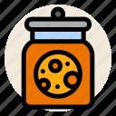 breakfast, cookie, cookie jar, handmade, homemade, jar icon