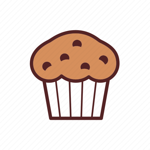backery, breakfast, cupcake, dessert, food, muffin, snack icon