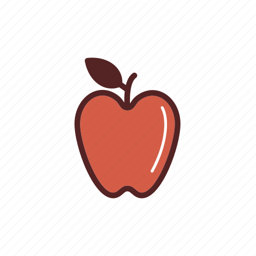 apple, breakfast, food, fresh, fruit, snack icon