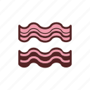 bacon, breakfast, food, fried icon