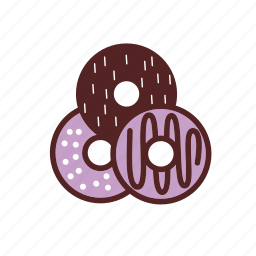 bakery, breakfast, dessert, donut, food, snack, topping icon