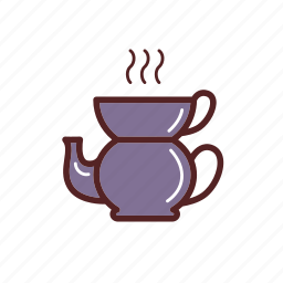 breakfast, drink, hot, tea, teacup, teapot icon