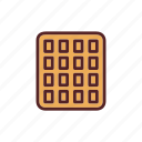 breakfast, dessert, food, snack, wafer icon