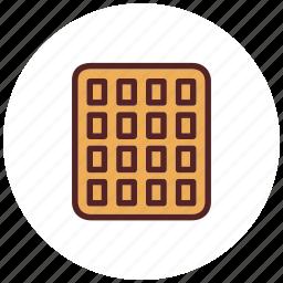 breakfast, dessert, food, snack, wafer icon