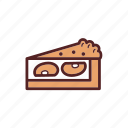 apple, breakfast, dessert, food, pie, snack, tart icon