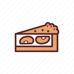 apple, breakfast, dessert, food, pie, snack, tart icon