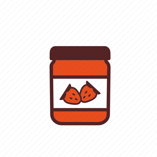 breakfast, food, fruit, glass, jam, jar, strawberry icon