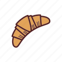 backery, breakfast, croissant, food, snack icon