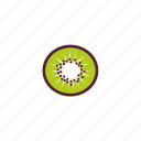 breakfast, food, fresh, kiwifruit, sliced, snack icon