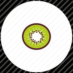 breakfast, food, fresh, kiwifruit, sliced, snack icon