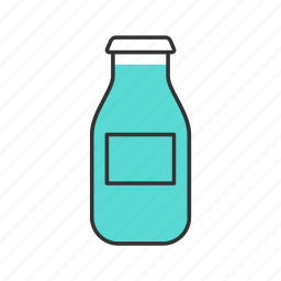 beverage, bottle, breakfast, cold, drink, juice, milk icon