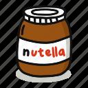 breakfast, cute, drink, eat, food, nutella, sweet