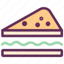 bakery, cake, cake slice, dessert, food, sandwich, sweet icon