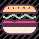 bread, breakfast, burger, food, hamburger, sandwich icon
