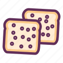 bakery, baking, bread, bread slice, breakfast, food, sandwich icon