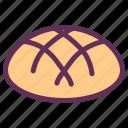 bakery, bread, breakfast, food, hot bun, sandwich icon