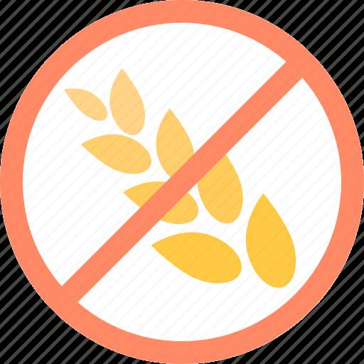 allergen, allergy, food, free, gluten, grain, wheat icon