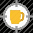 aim, beer, goal, krug, mug, target
