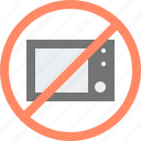 avoid, ban, microwave, no, oven, stove icon
