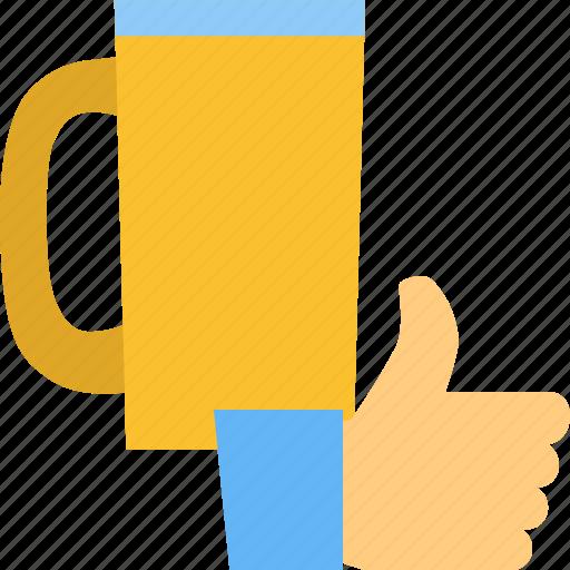 Beer, favourite, krug, like, mug, thumb, up icon - Download on Iconfinder