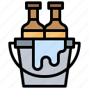 alcohol, bar, beer, bottles, bucket icon